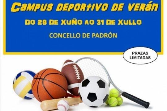 O Campus Deportivo de Verán do Concello de Padrón terá lugar entre o 28 de xuño e o 31 de xullo