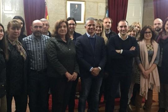 Padrón recibe a técnicos de xuventude, emprego e políticos europeos do Programa Erasmus +