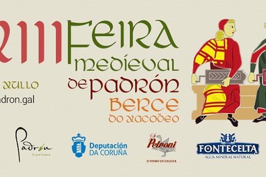 Padrón celebrará a XIII Feira Medieval do 6 ao 8 de xullo, cunha trintena de actividades
