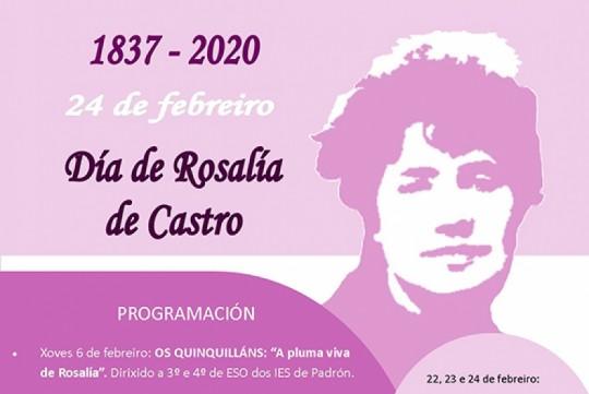 Rosalía de Castro protagoniza a axenda cultural do mes de febreiro