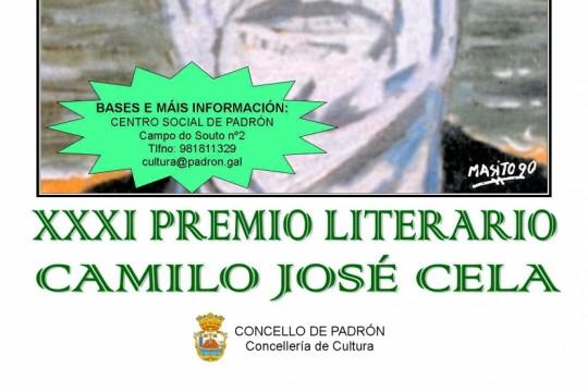 O Concello de Padrón convoca o XXXI Premio Literario Camilo José Cela